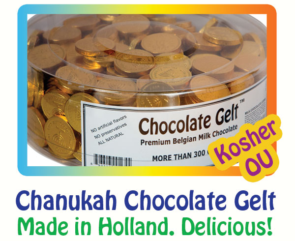 Kosher Chocolate Coins for Hanukkah